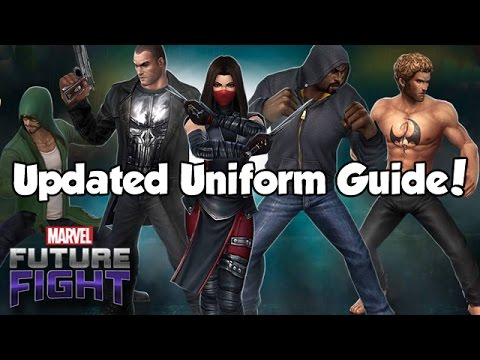 Updated Uniform Guide! - Marvel Future Fight