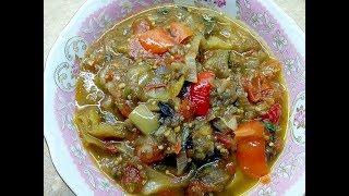 Салат из баклажанов Аджапсандали на зиму