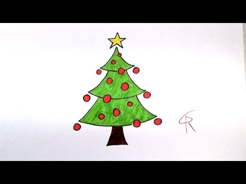 Learn How To Draw A Festive Cartoon Christmas Tree Icanhazdraw Youtube