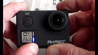 Akaso V50 - Native 4k Action Camera with Bluetooth Remote Unboxing