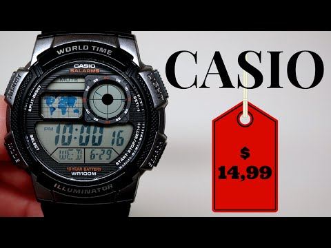 (4K) CASIO DIGITAL MEN'S WATCH REVIEW $14,99 MODEL: AE1000W-1B