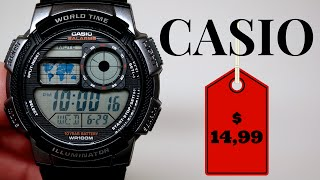 (4K) CASIO DIGITAL MEN'S WATCH REVIEW 14,99 MODEL: AE1000W-1B