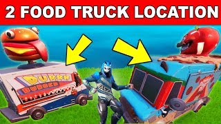 DANCE OR EMOTE BETWEEN TWO FOOD TRUCKS LOCATION GUIDE (Downtown Drop Challenges)