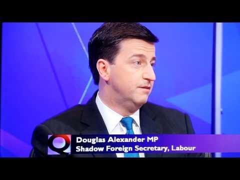 Douglas Alexander, Labour MP, and David Starkey