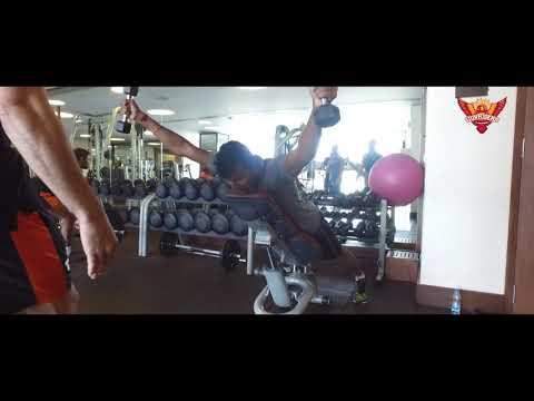 Gym Workout Session #1   #OrangeArmy   SunRisers Hyderabad   IPL 2019
