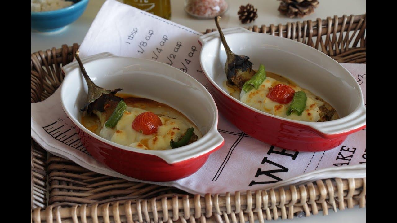Közlenmiş Biberli Ve Beyaz Peynirli Közlenmiş Patlıcan Tarifi