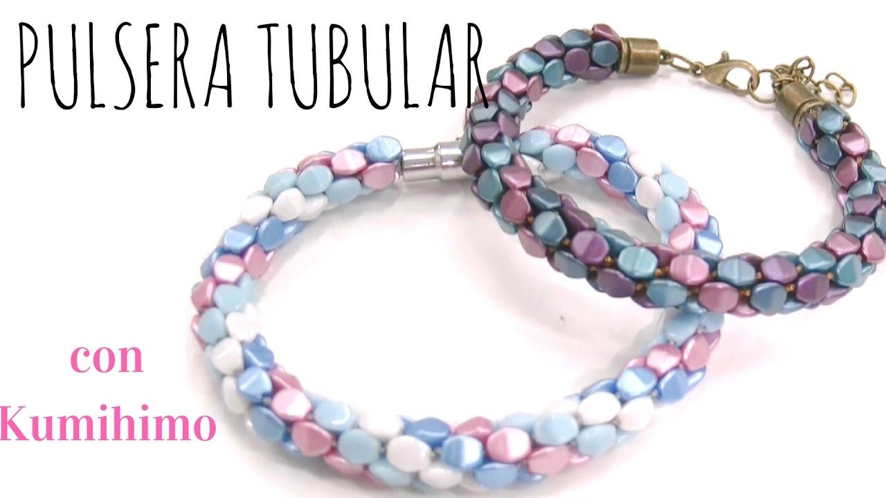 Beading Ideas Pinch Beads Tubular Bracelet Using Ihimo