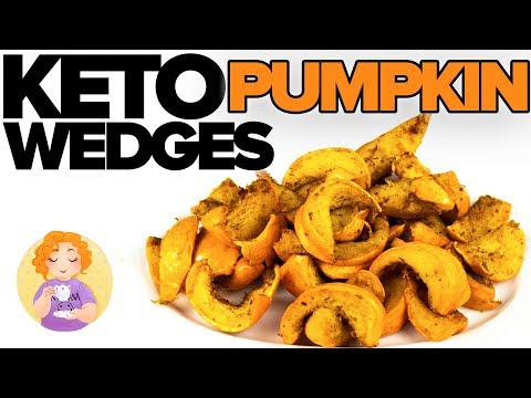 KETO Pumpkin Recipe || How to make Munchkin Pumpkin Fries Wedges Low Carb