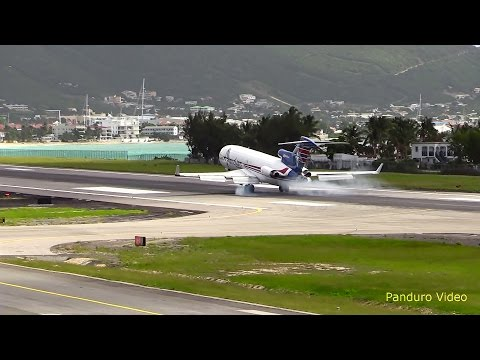 St Maarten Amazing Plane landing and Takeoff footage at Princess Juliana Airport # 3
