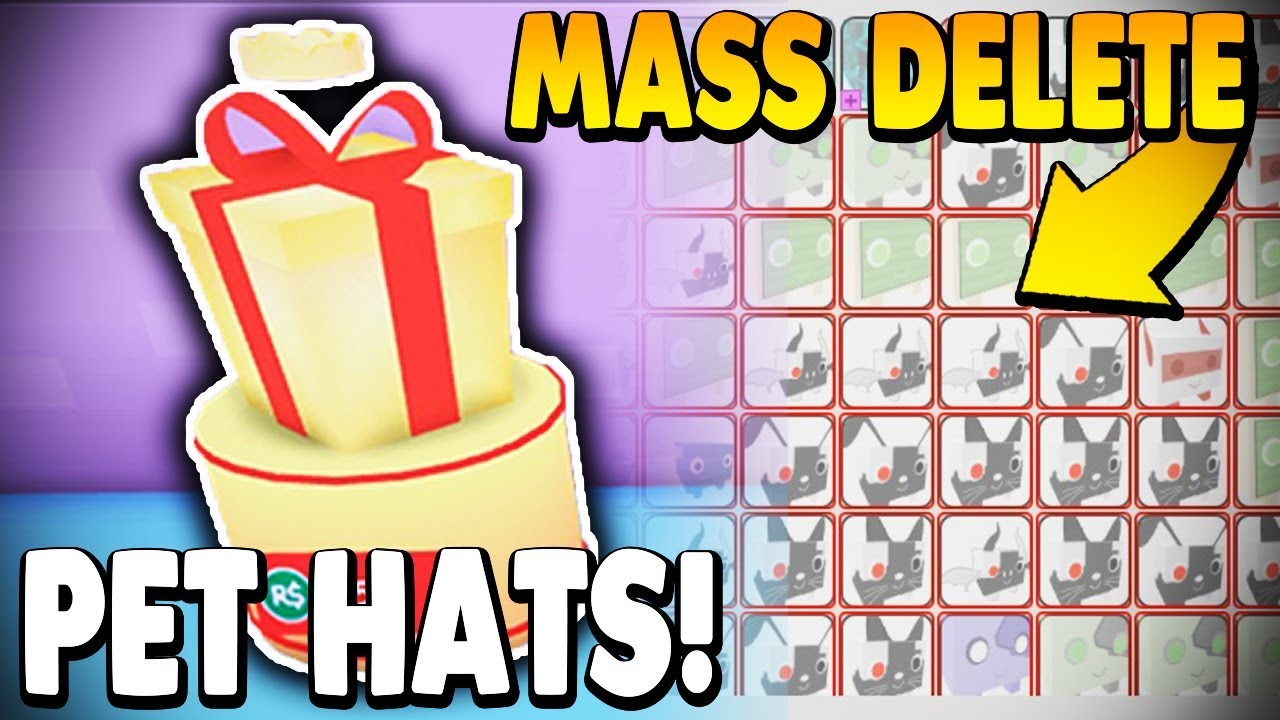 *NEW UPDATE* PET HATS! UPDATE 7 *MASS DELETE PETS* | Roblox: Pet Simulator