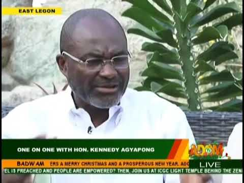 One On One With Honorable Kennedy Agyapong - Badwam Mpensenpensenmu on Adom TV (27-12-18)