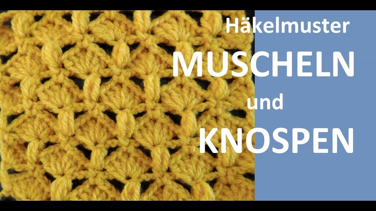 Unique Muschel Häkelmuster Illustration - Decke Stricken Muster ...