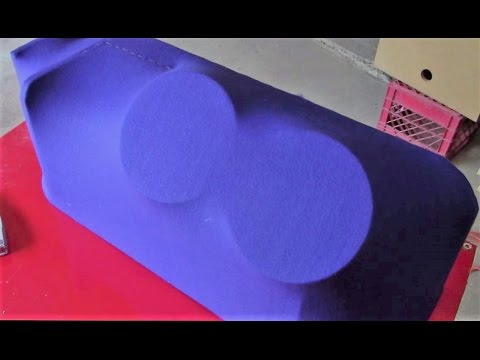 How to fiberglass speaker boxes and other shapes. (1 of 3) ( Subwoofer box )