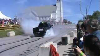 Burnout Clips - Massive Diesel Truck Burn Outs - Burn Rubber Thoroughbred Diesel Judgement Day
