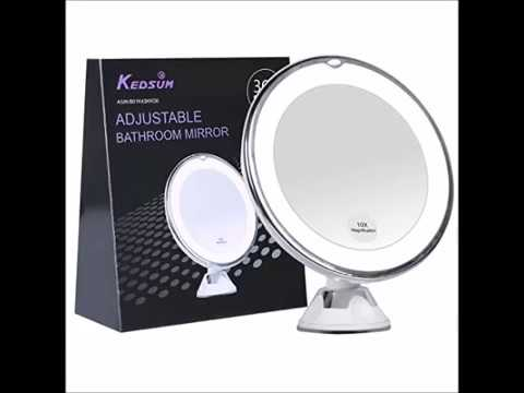 Kedsum 6 8 10x Magnifying Led Lighted Makeup Mirror Bathroom Vanity With Strong Suction Cup
