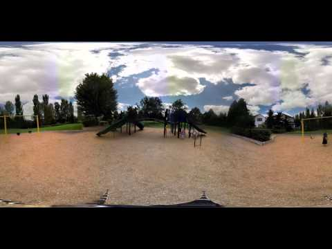 Lilian at the park in 360 degree