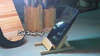 Handcrafts | Membuat Tempat Duduk HP Dari Stik Es Krim | FULL
