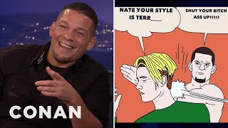 Nate Diaz On His Beef With Justin Bieber  - CONAN on TBS