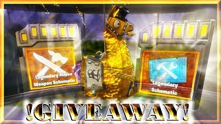 GIVEAWAY! & OPENING LEGENDARY Troll Loot Truck LLAMAS! [MYTHIC HERO] | FORTNITE : PvE