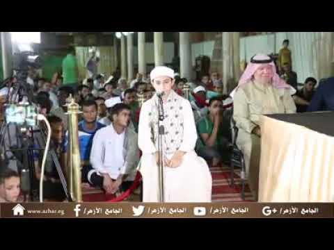 تلاوة رائعة في التصفية النهائية من مسابقة أندى الأصوات بالجامع الأزهر