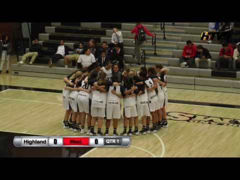 Varsity Girls Basketball: Highland vs West High School