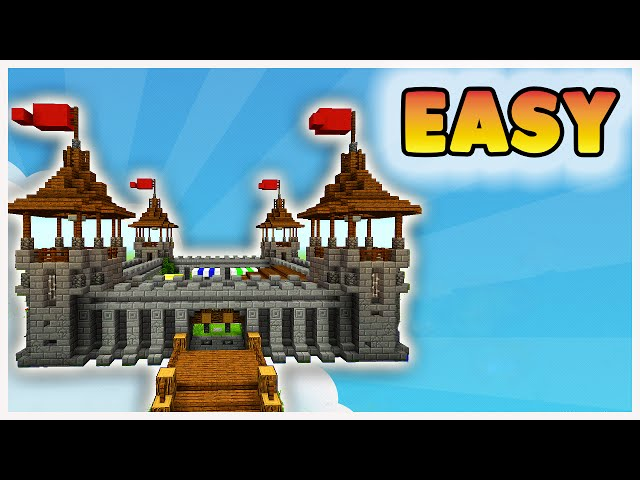 How To Build A Castle In Minecraft Easy