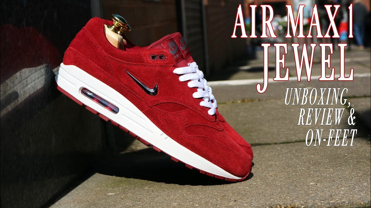 air max 1 jewel team red