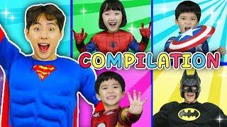 슈퍼히어로 총 출동!! 악당 타노스를 물리쳐라! Avengers Superhero kids Justice League - 마슈토이 Mashu ToysReview