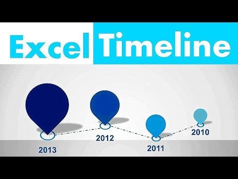 How to Create Excel timeline in 2 minutes - YouTube