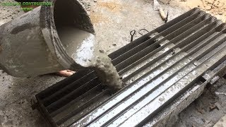 How to make cement concrete molds Precast - skills to construction beautiful fences easily