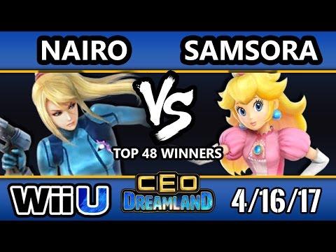 CEO Dreamland 2017 Smash 4 - Samsora (Peach) Vs. NRG   Nairo (ZSS) SSB4 Winners Top 48 - Smash Wii U