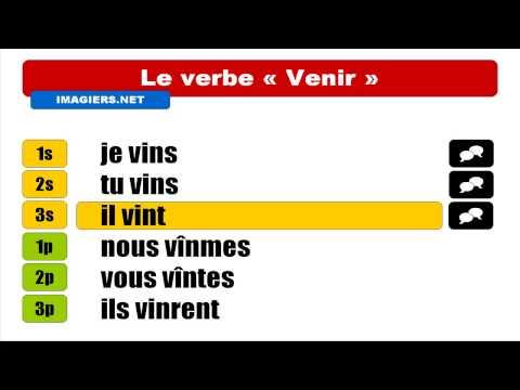 French Verbs Venir Indicatif Passe Simple Youtube