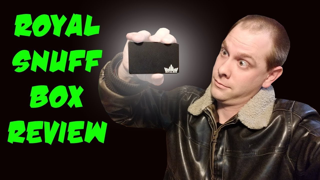Royal Box Classic Black Snuff Box Review  Does it stand up to the stress  test!?