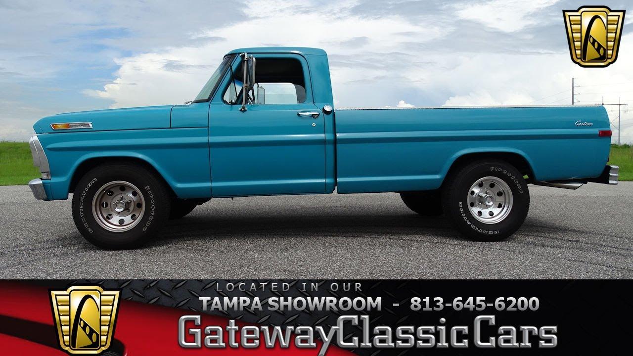 977 tpa 1971 ford f100 v8 small block 390 cid 3 speed manual [ 1280 x 720 Pixel ]