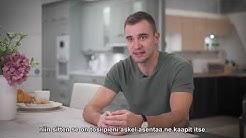 Ampumahiihtäjä Olli Hiidensalo todisti, että keittiön voi asentaa myös itse