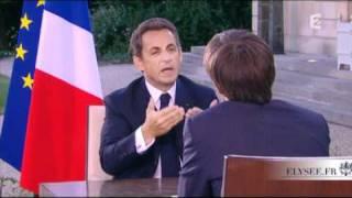 Le Président répond aux questions de David Pujadas sur France 2, en direct de la terrasse de l
