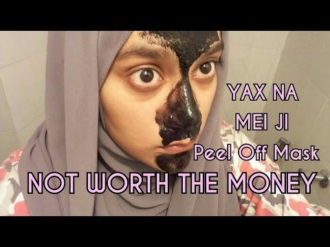 YAXNA MEI JI Facial Blackhead Peel off Mask Review - NOT WORTH THE MONEY