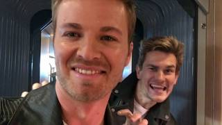 Behind the scenes as Stuntman Double I lalaläuft bei MIR commercial with Nico Rosberg