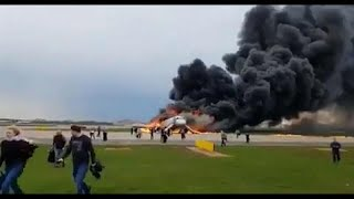 13 dead and several injured on burning Aeroflot plane, Russian news agencies report