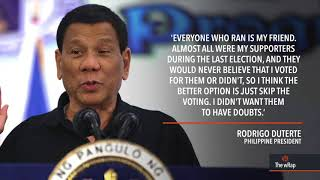 Duterte: Skipping barangay elections 'purely political'