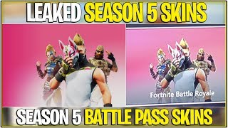 *NEW* Fortnite: LEAKED SEASON 5 BATTLE PASS SKINS! | (Accidentally Leaked Early!)