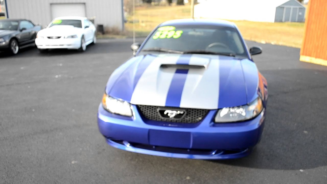 2012 Mustang V6 For Sale >> 2003 Blue Mustang V6 Coupe With Silver Stripes For Sale ...