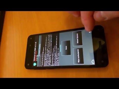 Anleitung Amazon Firephone CM11 Installation Cyanogenmod mit Safestrap