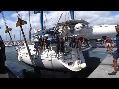 Подъем и обслуживание яхты на Канарах