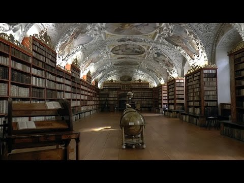 Medieval Strahov Monastery.  Prague. Czech Republic. HD video.