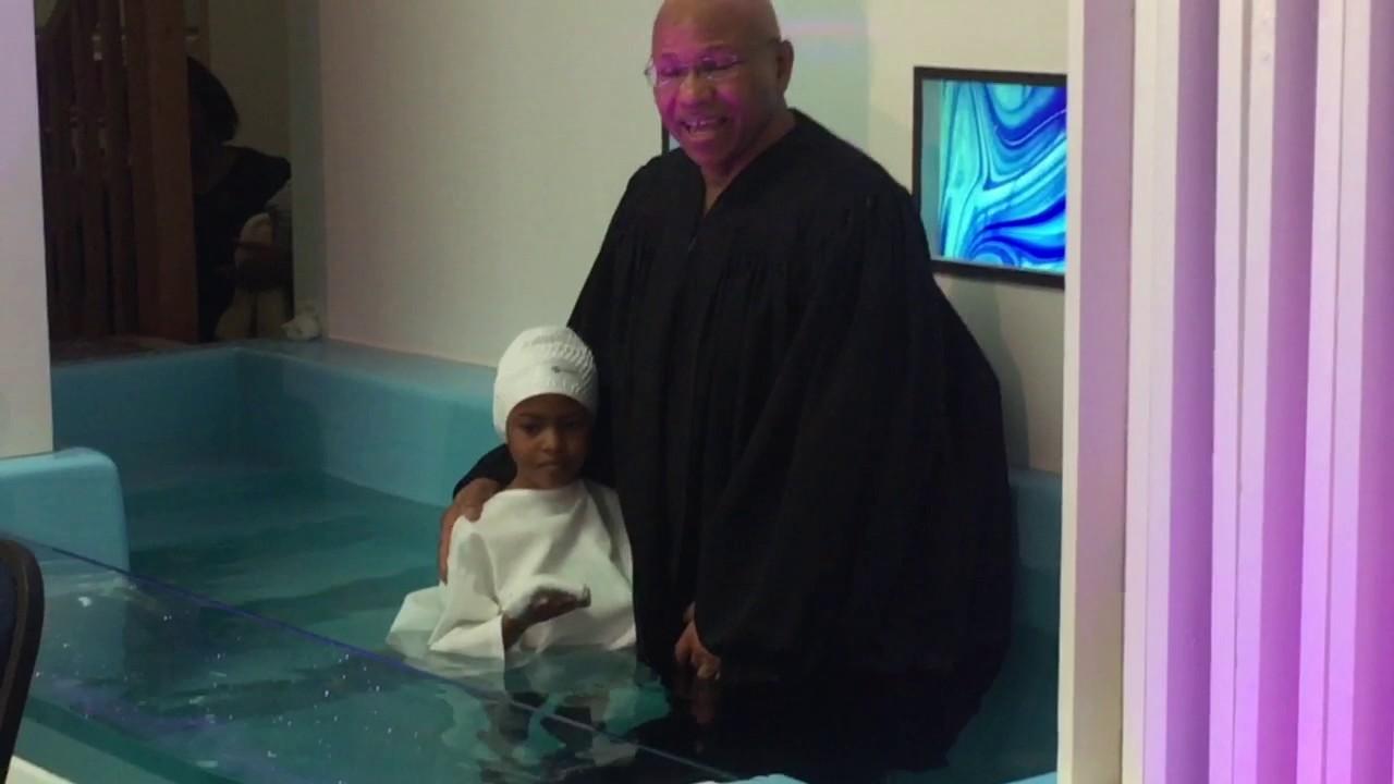 cooper kids getting baptized