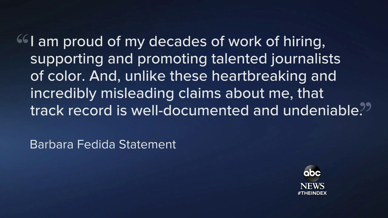 ABC News executive Barbara Fedida placed on leave over alleged ...