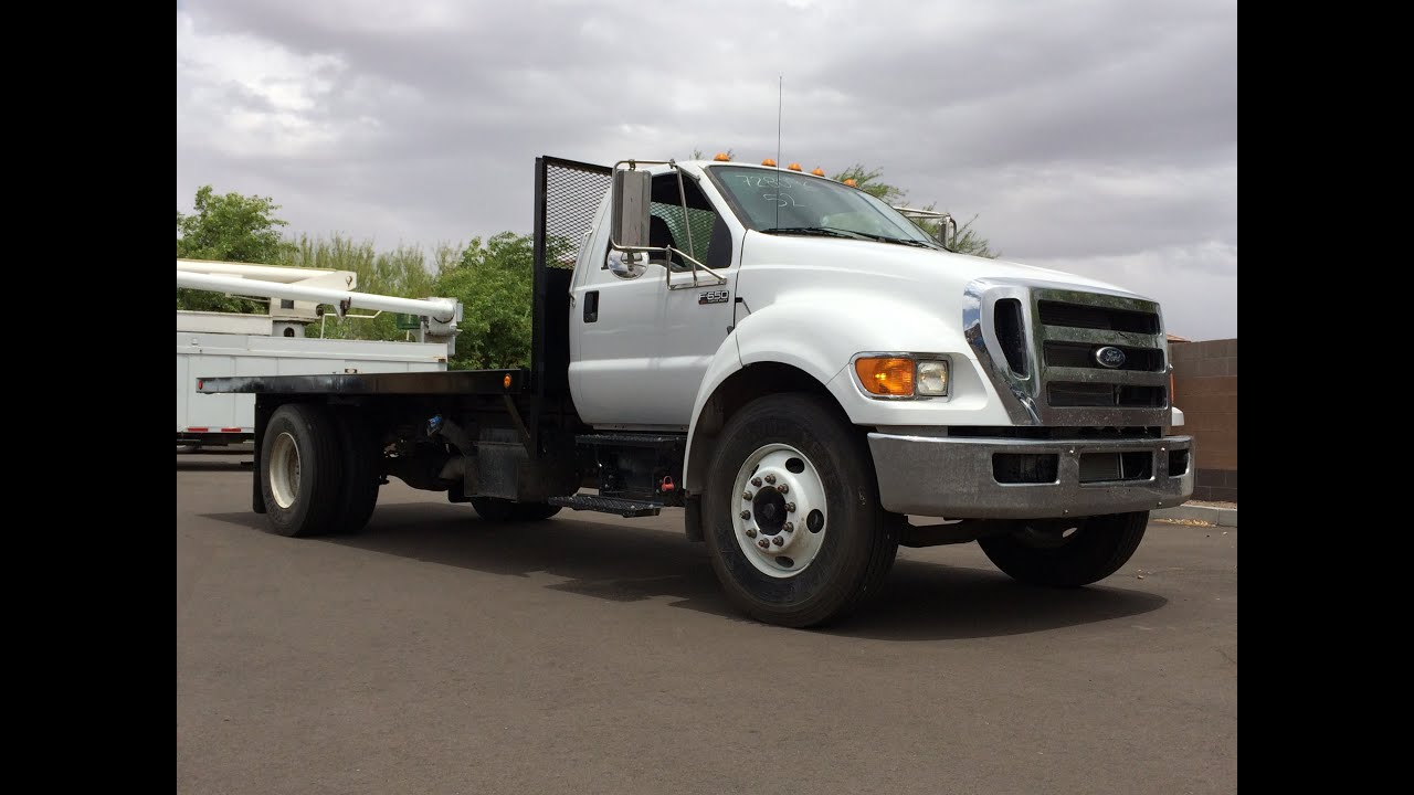 Ford F250 With Flatbed >> 2015 Ford F-650 Flatbed Walkaround - YouTube