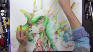 Oil Pastels Creature!? || You Guys Send Me Things and I Draw With Them
