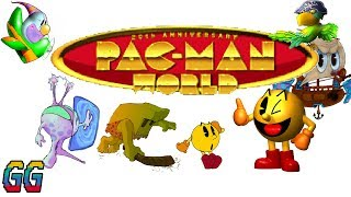 PS1 (Console) Pac-Man World 1999 PLAYTHROUGH (100%)